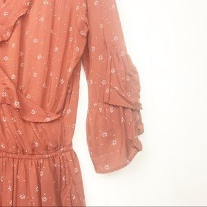 Abercrombie & Fitch Pants & Jumpsuits - Abercrombie burnt orange floral ruffle romper